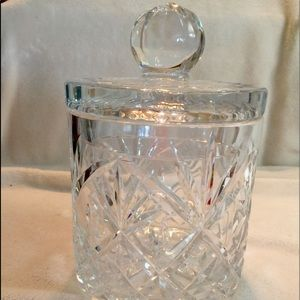 Vintage Lead Crystal Biscuit Jar with Lid